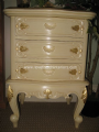 Louis Three Drawer French Bedside